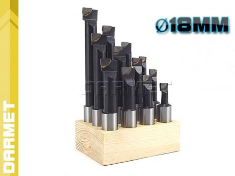 Zestaw noży do głowicy wytaczarskiej 12-225 mm - DARMET (GWZN-75)
