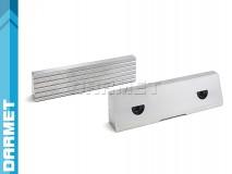 Wkładki szczękowe rowkowane 100MM (komplet) do imadeł precyzyjnych FPZ FPZB - DARMET