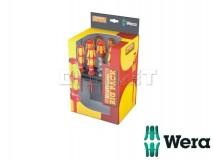 Screwdriver Set with Rack, Kraftform Big Pack 100 VDE, 14 pcs - WERA (05105631001)