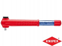Torque Wrench with Driving Square, Reversible, Length: 385MM, Range: 5-50Nm - KNIPEX (98 33 50)