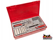 "6-point Socket Set with Rachtet TT1435, 1/4"" Drive, 35 pcs - TENG TOOLS (0349-0109)"