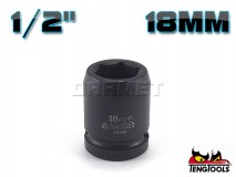 "6-Point Impact Socket 920518C, 1/2"" Drive - 18MM - TENG TOOLS (10178-0500)"