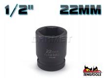 "6-Point Impact Socket 920522C, 1/2"" Drive - 22MM - TENG TOOLS (10178-0708)"
