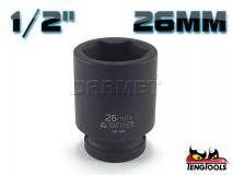 "6-Point Impact Socket 920526C, 1/2"" Drive - 26MM - TENG TOOLS (10178-0823)"