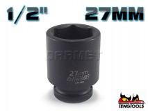 "6-Point Impact Socket 920527C, 1/2"" Drive - 27MM - TENG TOOLS (10178-0831)"