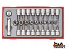 """Torx Socket Set TTTX30, 1/4"""" and 3/8"""" Drive, 30 pcs - TENG TOOLS (10214-0100)"""