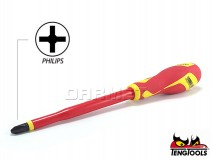 Slotted Electricians Screwdriver, 1000V Insulated, MDV846N - PH3 x 150MM - TENG TOOLS (17788-0408)