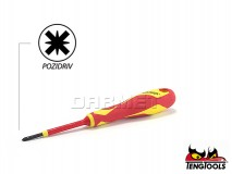 Slotted Electricians Screwdriver, 1000V Insulated, MDV860N - PZ0 x 60MM - TENG TOOLS (17789-0100)