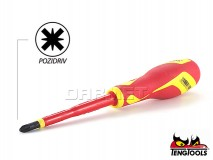 Pozidriv Electricians Screwdriver, 1000V Insulated, MDV864N - PZ2 x 100MM - TENG TOOLS (17789-0308)