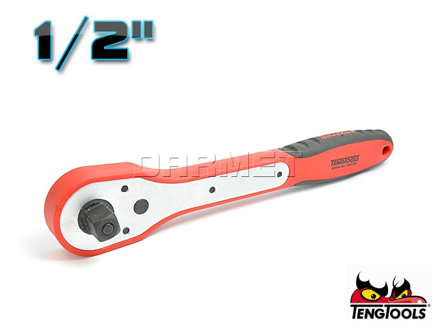 """Ratchet with 1/2"""" Drive, 1200FRP - 255MM - TENG TOOLS (7429-0305)"""