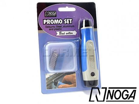 Deburring Set with N1 Swivel Blades, 11 pcs - NOGA (NG800)