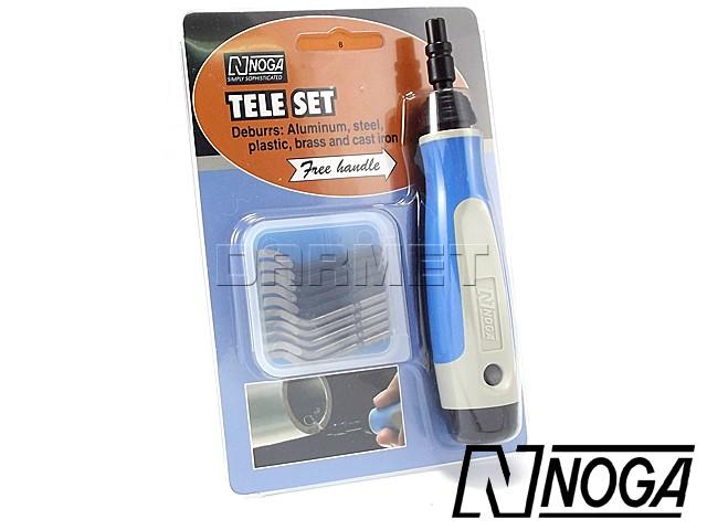 Deburring Set with S10, S20 Swivel Blades, 12 pcs - NOGA (NG8350)