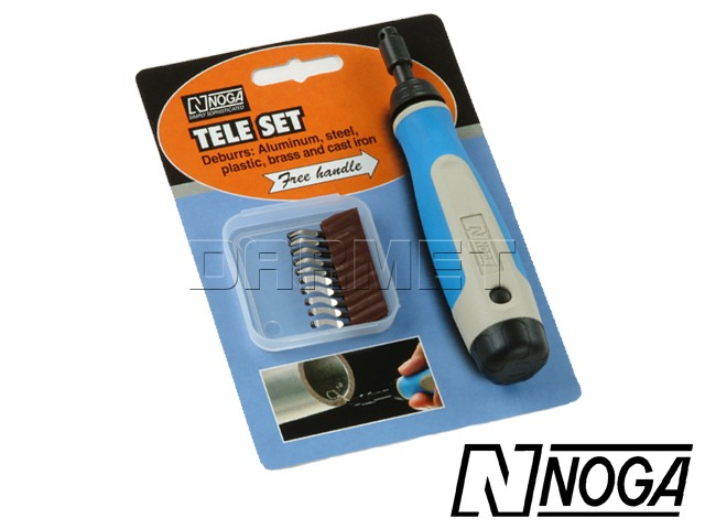Deburring Set with N1, N2 Swivel Blades, 12 pcs - NOGA (NG8300)