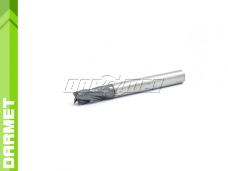 4-Flute End Mill for General Use, Short DIN6527-K, VHM AlTiN - 6MM - DARMET