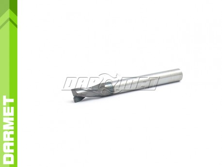 2-Flute End Mill for General Use, Long DIN6527-L, VHM AlTiN - 8MM - DARMET