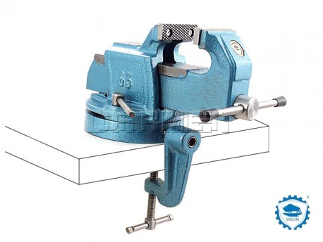 Portable Bench Vise With Swivel Base 63mm Bison Bial 1256 63