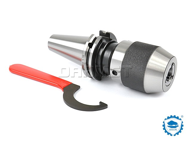 Keyless Drill Chuck with Shank DIN50, 3-16MMM - BISON BIAL (Type 7655)