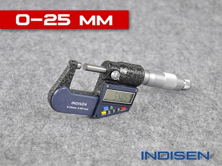Electronic Outside Micrometer 0 - 25MM - INDISEN (2311-0250)