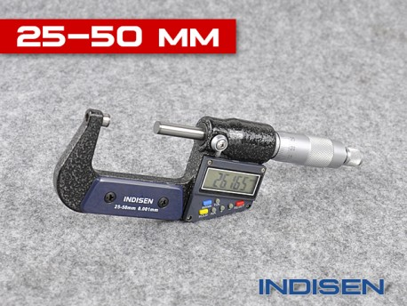 Electronic Outside Micrometer 25 - 50MM - INDISEN (2311-2550)