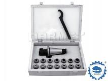 ER25 x 14 pcs - ISO40 Collet Chuck Set - BISON BIAL (Type 7616)