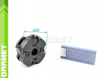 Set: Indexable Face Mill 80 MM (FC75SP12) + Inserts (10 pcs)
