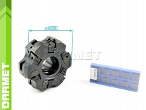 Set: Indexable Face Mill 100 MM (FC75SP12) + Inserts (10 pcs)