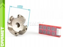 Set: Indexable Face Mill 80 MM (FB45SE09) + Inserts (10 pcs)