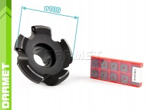 Set: Indexable Face Mill 100 MM (FB45SE09) + Inserts (10 pcs)