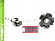 Set: Indexable Face Mill 100 MM (FB45SE09) + Inserts (10 pcs) + Combi Shell Mill Holder MS2