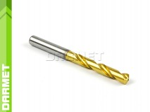 Solid Carbide Drill with Cylindrical Shank, 5xD - 8MM, VHM TiN - DARMET