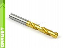 Solid Carbide Drill with Cylindrical Shank, 5xD - 4MM, VHM TiN - DARMET
