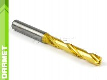 Solid Carbide Drill with Cylindrical Shank, 5xD - 10,2MM, VHM TiN - DARMET