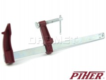 F-clamp, model M, clamping range: 250MM - PIHER (P01025)
