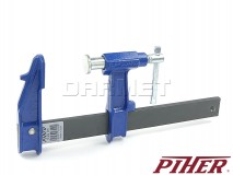 Piston F-clamp, model E, clamping range: 400MM - PIHER (P03040)