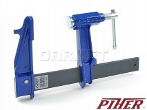 Piston F-clamp, model F, clamping range: 400MM - PIHER (P04040)