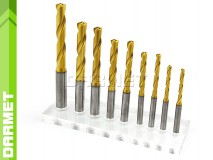 Solid Carbide Drill with Cylindrical Shank, 5xD - 10MM, VHM TiN with coolant - DARMET