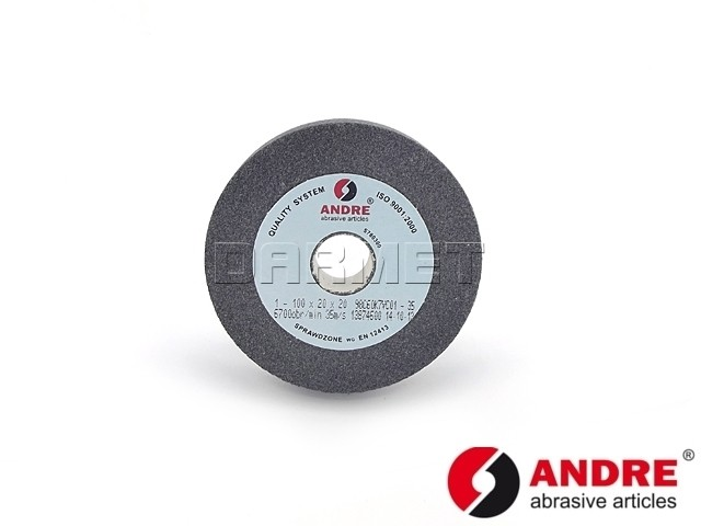 Straight Grinding Wheel, Type 1 - 100MM x 20MM x 20MM - ANDRE (510157)