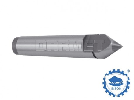 Half-Notched Carbide Tipped Dead Center - Morse 1 - BISON BIAL (Type 8731)