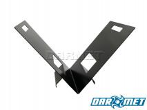 "Indoor Firewood Rack Log Holder | ""V plate"" style, 0,10in plate - DARMET"