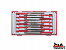 12 Piece Precission Needle Files Set - TENG TOOLS (TTNF12)