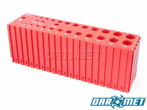 Drill stand for 1 - 13,5 mm drills | 30 sockets | color: red (2028)
