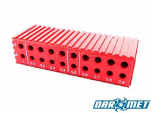 Drill stand for 8 - 9,9 mm drills | 20 sockets | color: red (2025)
