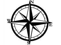 "Compass Wind Rose 0,10"" plate - DARMET"