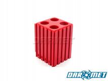 Stojak na tulejki zaciskowe ER16    koszyczki 4 x ER16   kolor czerwony (2034)