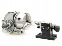 Semi-Universal Indexing Head with a Tailstock and a 125 mm lathe chuck (DM-2730)