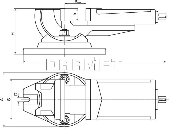 2-way Anlge Machine Vise FQU