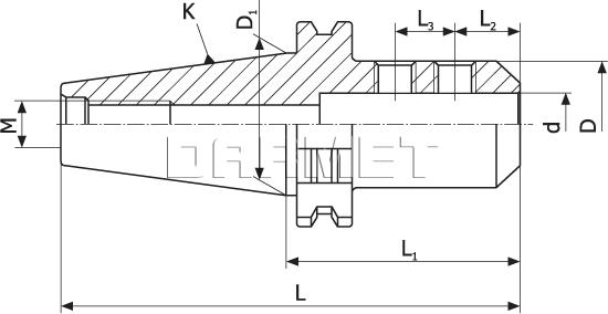 Weldon Type End Mill Holder (DM-386)